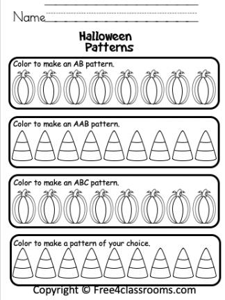 Kindergarten Halloween Math