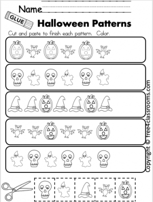 Kindergarten Halloween Math Patterns