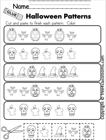 Kindergarten Halloween Math Patterns