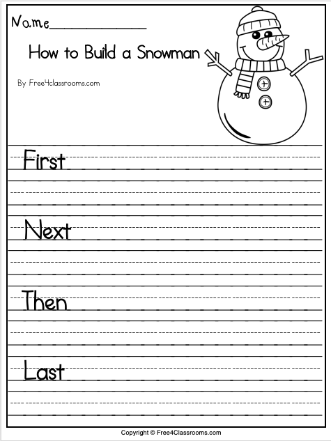 Free Letter Writing Template For Winter
