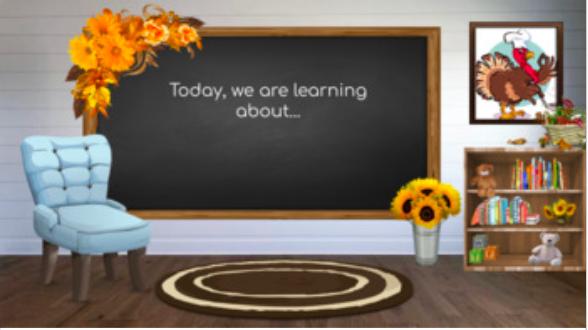 Free Thanksgiving Virtual Classroom