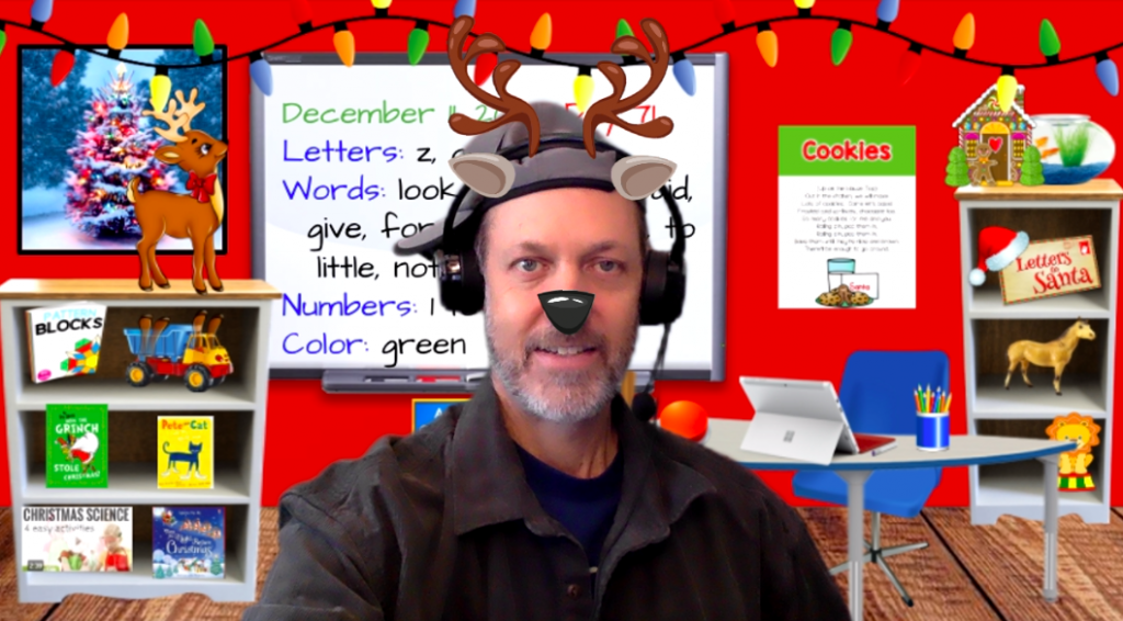 Virtual Christmas Zoom Background for Teaching