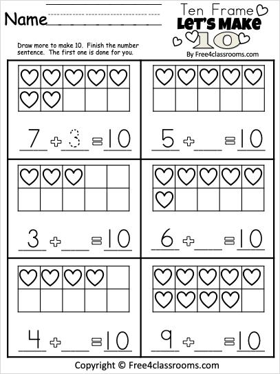 Free Kindergarten Math February