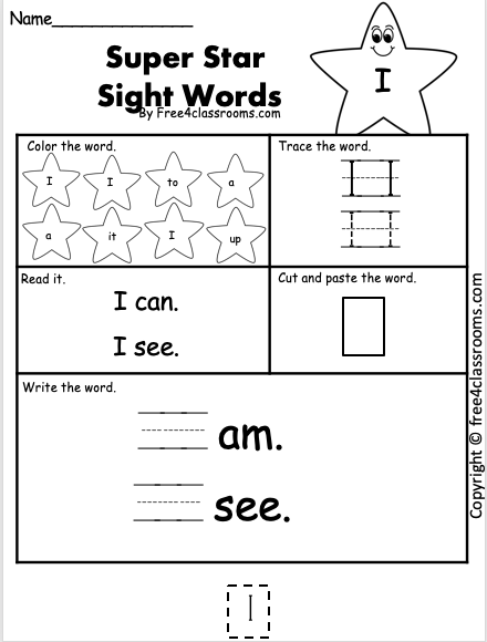 Dolch Sight Word - I