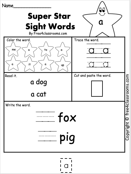 Dolch Sight Word - A