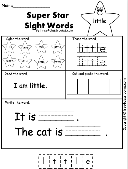 Sight Word Little