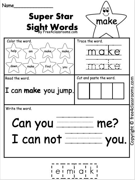 Sight Word Make