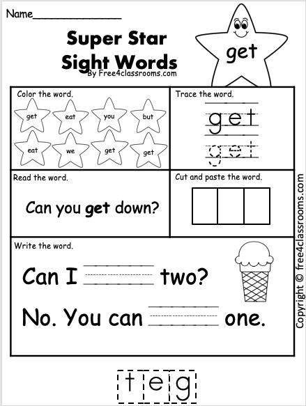 Sight Word Worksheet - get