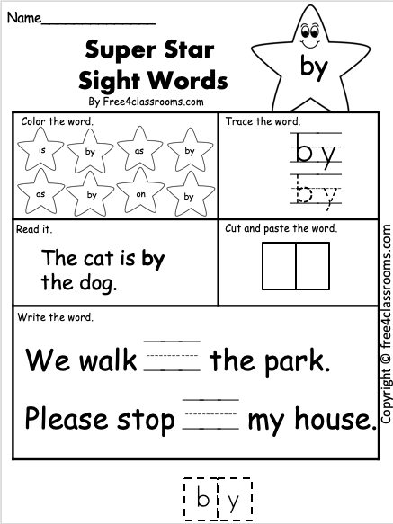 Free Sight Word Printable Worksheet - by